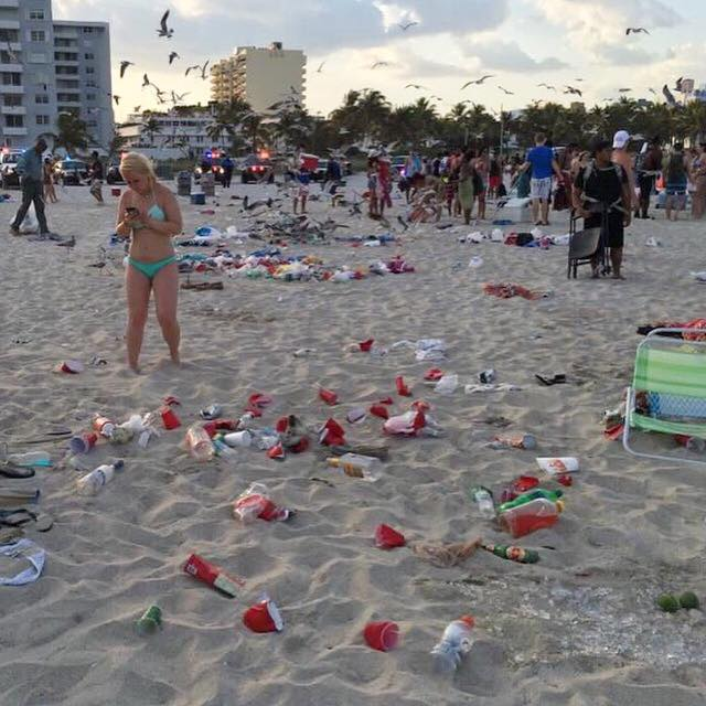 South Beach spring break mess 2