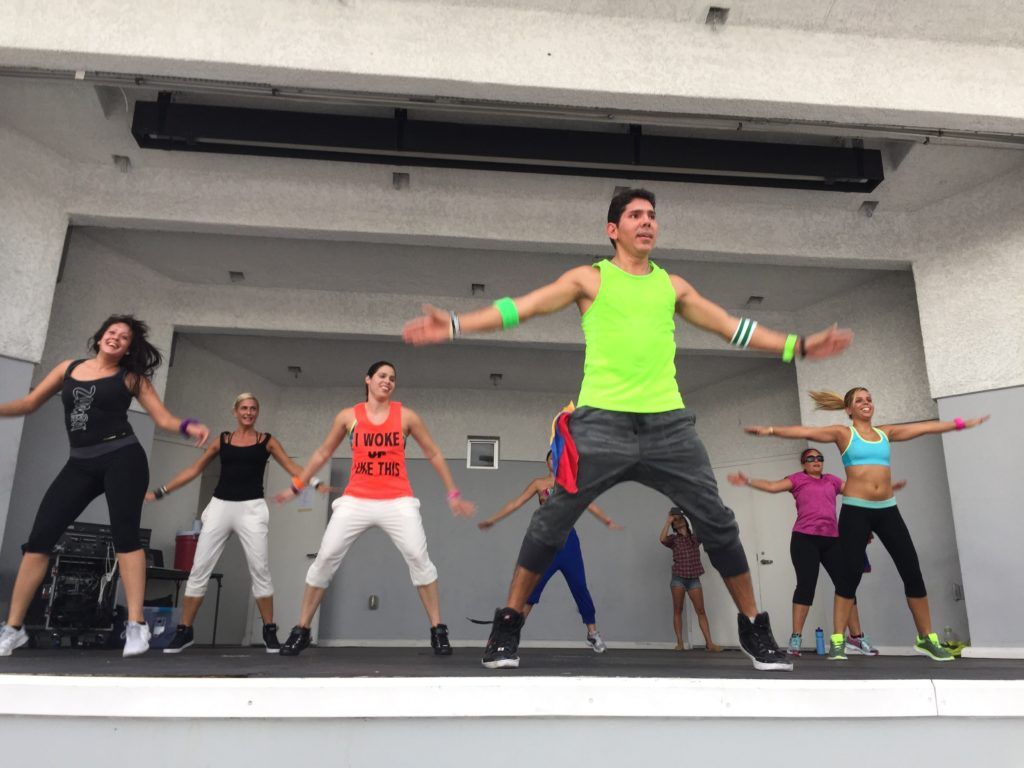 zumbathon fernando garcia at north beach bandshell