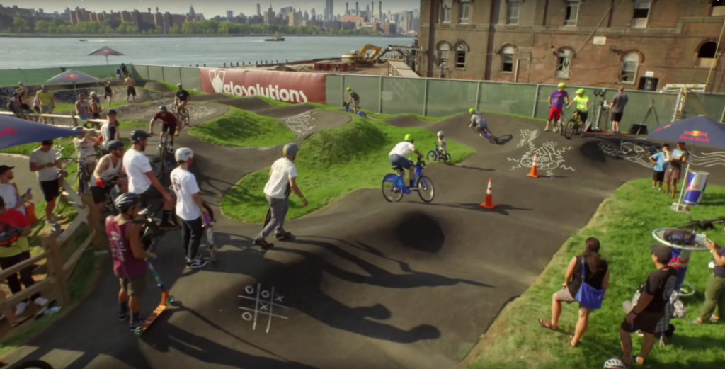 Velosolutions USA skate park in Brooklyn, NY