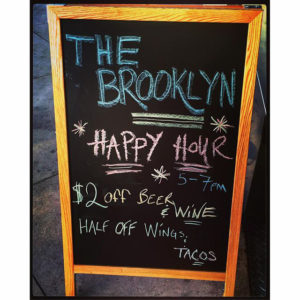 The Brooklyn happy hour specials