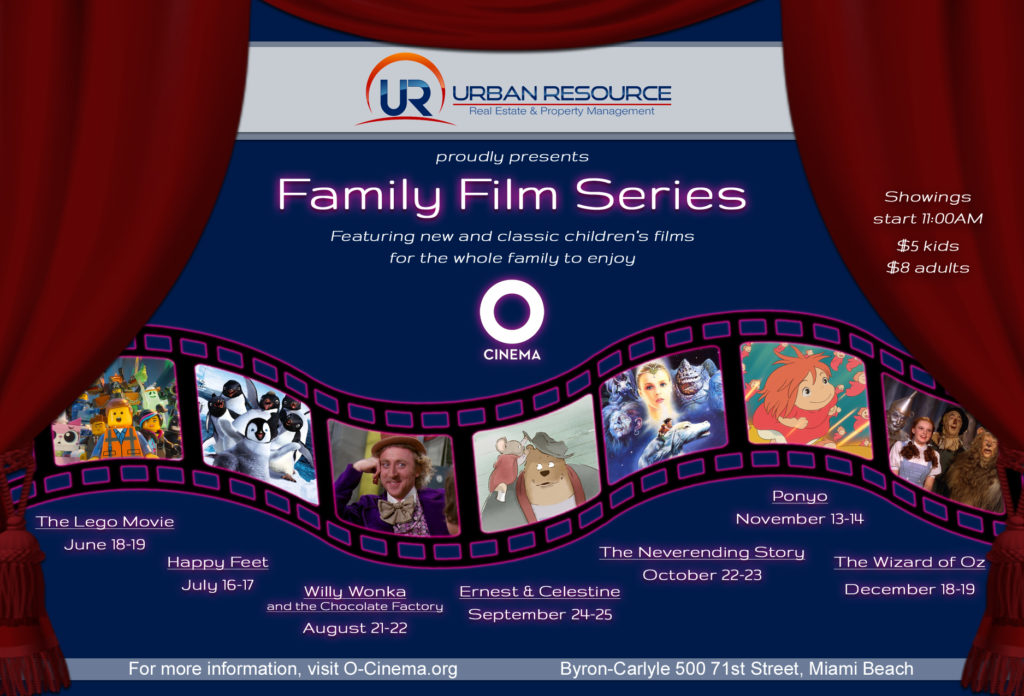 OCinema Family Film Series sponsored by Urban Resource